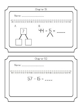 Go Math chapter 5 exit tickets grade 2