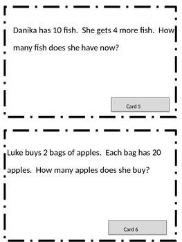 Go Math unit 8 Word Problems.