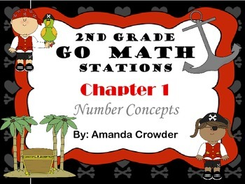 Go Math~2nd Grade ALL Chapters (1-11) Bundle Math Centers/Stations~Common Core
