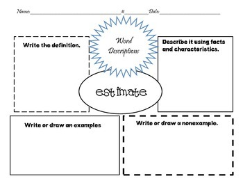 Go Math~Vocabulary Strategy~Graphic Organizer Chapter 1-3