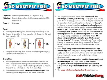 Go Multiply Fish - 4th Grade Math Game [CCSS 4.NBT.B.5]