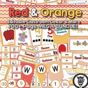 Orange Classroom Theme