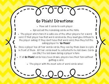 "Go Phish! Hard and Soft ""c"" and ""g"" (Go Fish) Phonics Card Game FREEBIE"