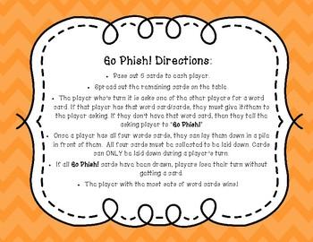 Go Phish! Phonograms (Go Fish) Phonics Card Game FREEBIE
