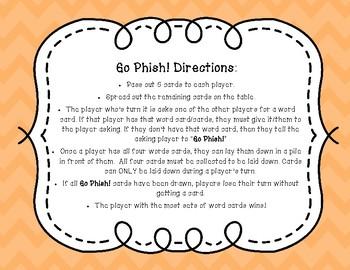 Go Phish! Syllables (Go Fish) Phonics Card Game