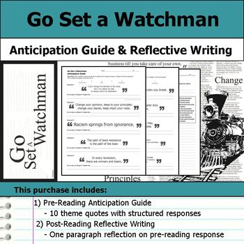 Go Set a Watchman - Anticipation Guide & Reflection Writing