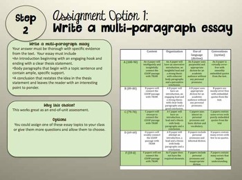 Go Set a Watchman To Kill a Mockingbird Essay Prompts/Discussion Questions