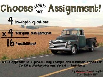 Go Set a Watchman To Kill a Mockingbird Essay Prompts/Disc