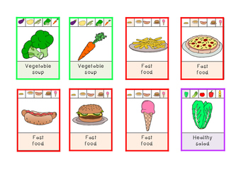 Go Shopping! Food-related families game