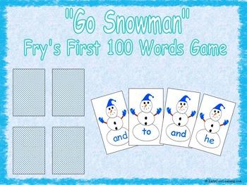 Go Snowman Sight Words (Common Core Reading)