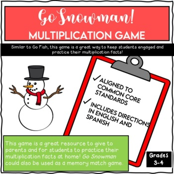 Go Snowman!  Winter Multiplication Game