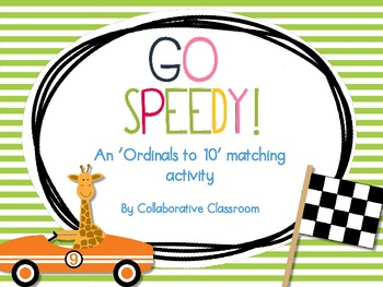 Go Speedy! Ordinals to 10