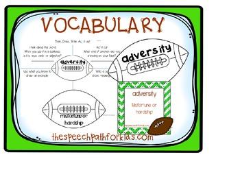 Go Team!…Football & Perseverance… {Vocabulary, Writing frames, and Idioms}