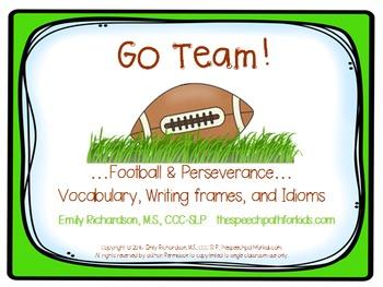 Go Team!…Football & Perseverance… {Vocabulary, Writing fra