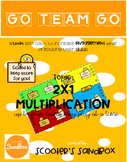 Go Team Go - Multi-Digit Multiplication (2-digit by 1-digit) Game