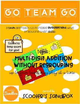 Go Team Go - Multi-Digit Addition (2-digit by 2-digit) without Regrouping Game