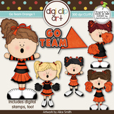 Go Team (Orange) 1-  Digi Clip Art/Digital Stamps - CU Clip Art