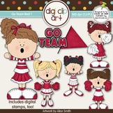 Go Team (Red) 1-  Digi Clip Art/Digital Stamps - CU Clip Art