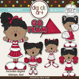 Go Team (Red) 2-  Digi Clip Art/Digital Stamps - CU Clip Art