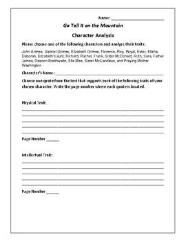 Go Tell It on the Mountain Character Analysis - Baldwin