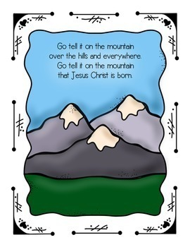 Go Tell It on the Mountain, an adapted Christmas song for young children