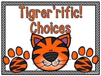 Go Tigers! Behavior Clip Chart