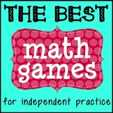 Math Games for Independent Practice! Five Games that work for any skill!