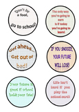 Go To School Buttons Badges