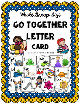 Go Together Letters Whole Group Size Sound Card ~ Consonan