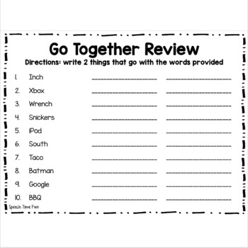 Go Together Pack for Older Students
