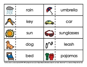 Go Togethers / Word Association Pairs (Set 1)