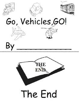Go, Vehicle, GO! Transportation Printable Book
