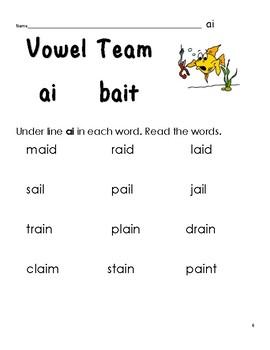 Go Vowel Teams!