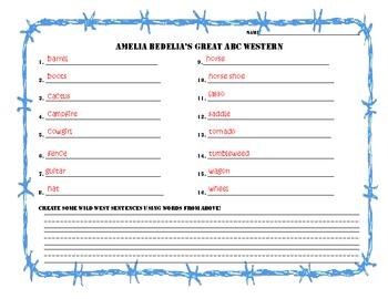 Go West Amelia Bedelia, ABC Order Literacy Station