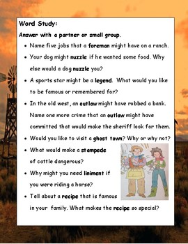 Go West, Amelia Bedelia Parish Primary Reading Novel Literature Study Guide