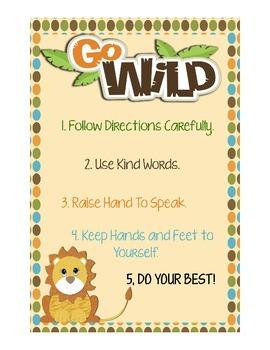 Go Wild Classroom Poster