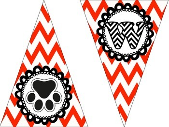 {Go Wildkittens} Pennant Banners