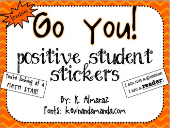 Go You!  [Positive Student Stickers]
