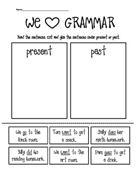 Go and Do- Present and Past Tense