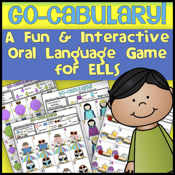 ESL Speaking Activities: Go-Cabulary! Oral Language Vocabulary Game for ELLs