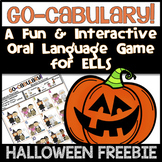 ESL Speaking Activities: Go-cabulary! A Fun Oral Language Halloween Game FREE