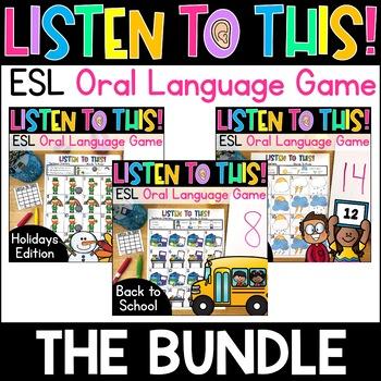 A Fun & Interactive Oral Language Vocabulary Game for ELLs! *Bundle*