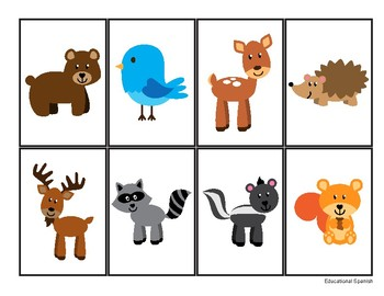 Go fish- Forest animals, Ve a pescar - Animales Selva