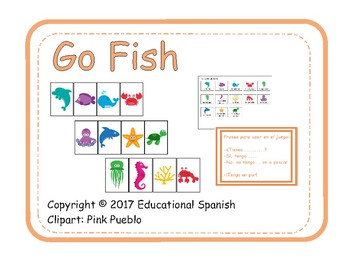 Go fish - Sea animals, Ve a pescar - Animales mar