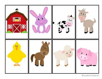 Go fish - Farm animals, Ve a pescar - animales granja