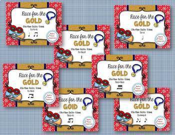 Race for the GOLD! Winter Games Rhythm Relay - BUNDLE of 7 Rhythmic Games!