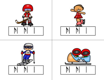 Race for the GOLD! Winter Games Rhythm Relay Game to Practice Syncopa
