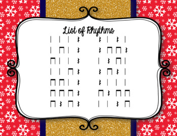 Race for the GOLD! Winter Games Rhythm Relay Game to Practice Ta Rest