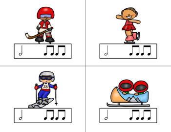 Race for the GOLD! Winter Games Rhythm Relay Game to Practice Ta-a