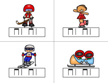 Race for the GOLD! Winter Games Rhythm Relay Game to Practice Ta ti-ti
